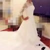 微胖新娘看过来,小拖尾婚纱中袖敬酒服转让!